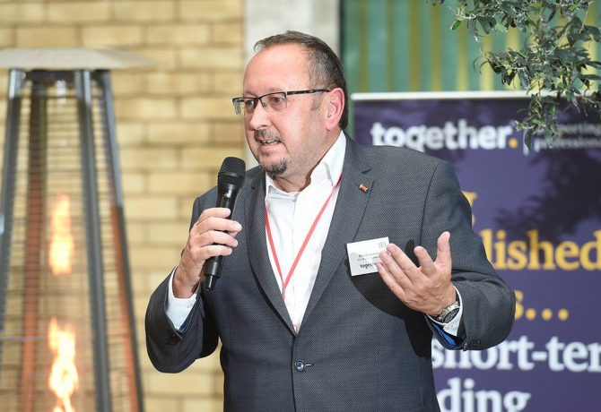 David Lomas on storytelling at an IoD event